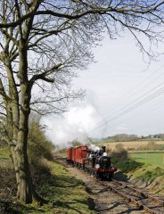 32678 with a recreated 1950s goods train. 11-4-10 © Brian Stephenson