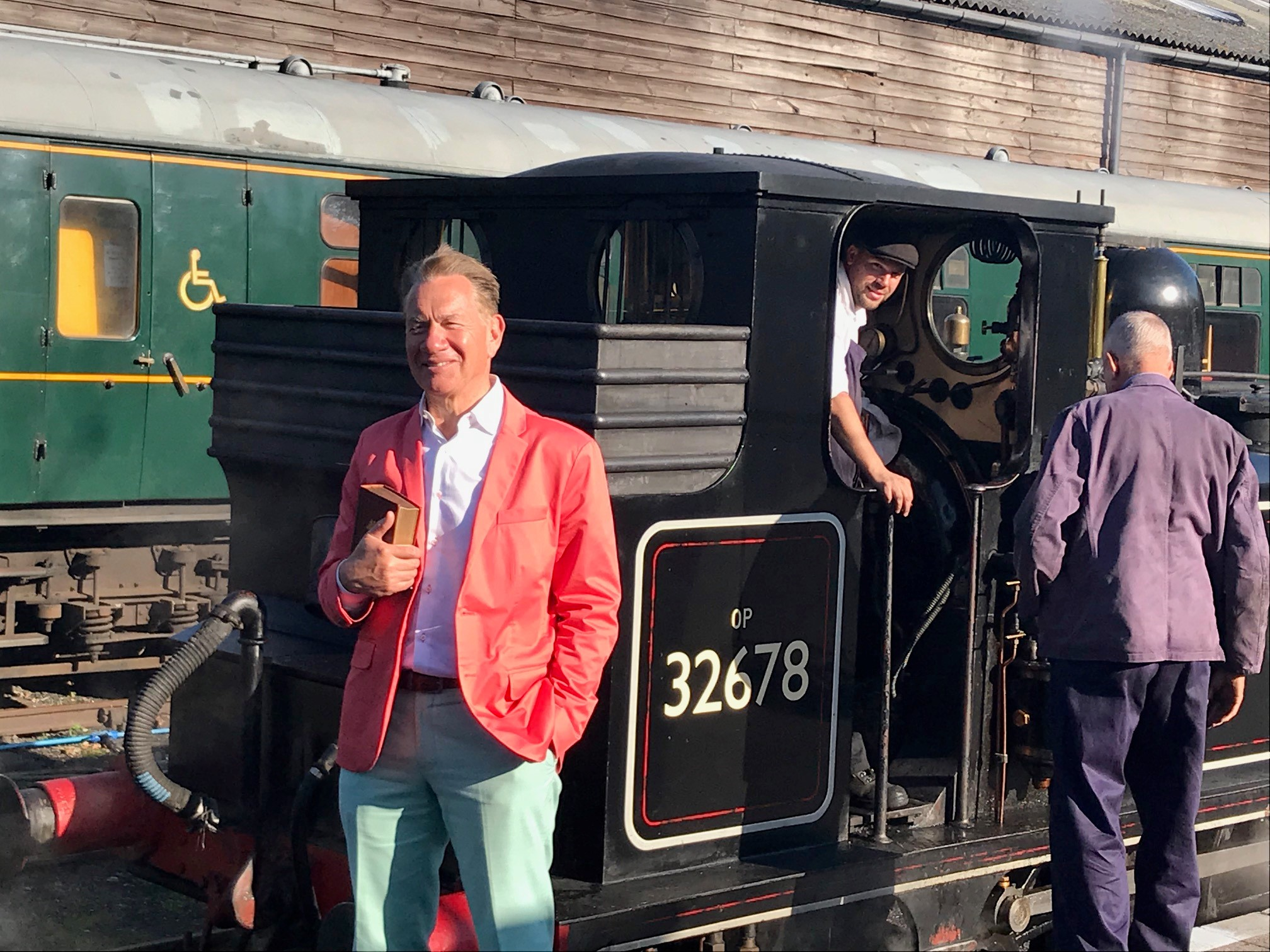Michael Portillo with 32678 at Tenterden Town Station - 10-10-18 Photograph © Andre Freeman