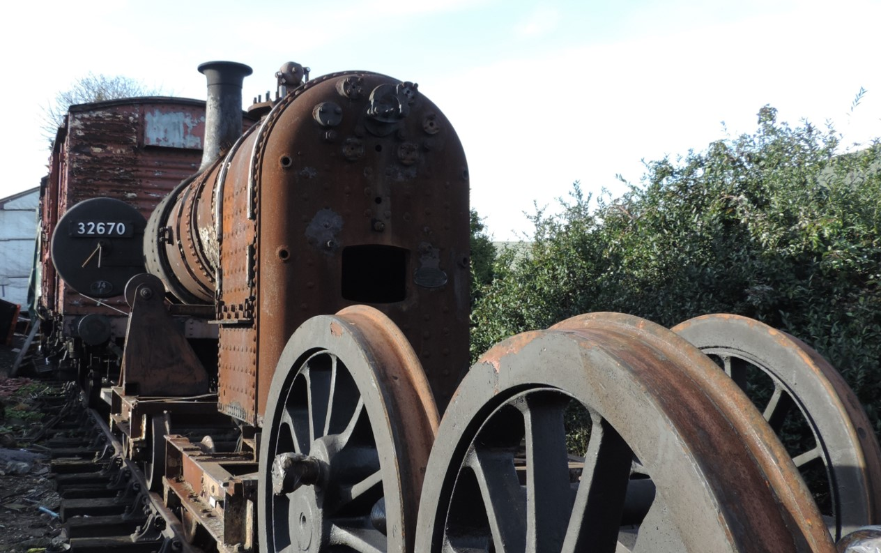 Boiler and wheels