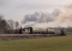 32678 leaves Rolvenden 21st March 2010. © Tony Eaton