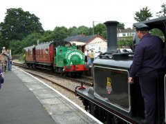 32678 meets Ivor.26 July 2009. © Hugh Nightingale